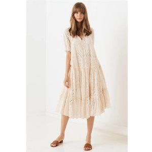 Spell & the Gypsy Anglaise Dress XS Cream Eyelets